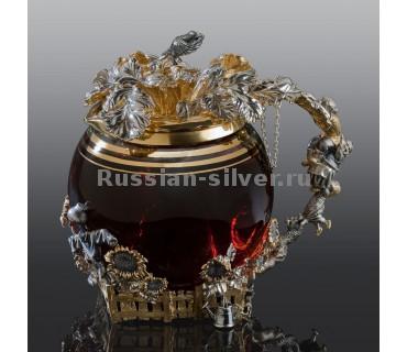 """Заварочный чайник """"Репка"""" 7211 производство Русское Серебро ВЮЗ, г. Волгореченск, серебро 925 пробы"""