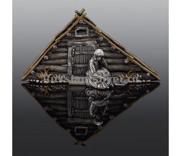 Серебряная салфетница, производство Русское Серебро ВЮЗ, г. Волгореченск, серебро 925 пробы