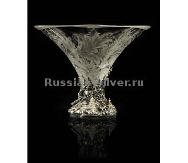 """Серебряная креманка """"Морозко"""", производство Русское Серебро"""