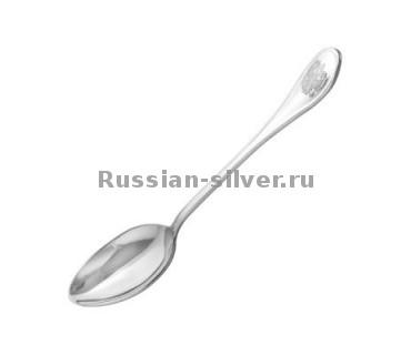 Ложка чайная с гербом 930561 производство Русское Серебро ВЮЗ, г. Волгореченск, серебро 925 пробы