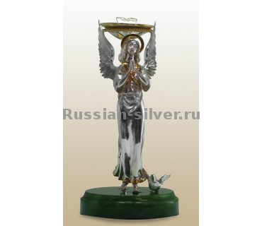 """Подсвечник """"Ангел 06"""", производство Русское Серебро ВЮЗ, г. Волгореченск, серебро 925 пробы"""