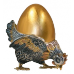 Подставка под яйцо «Курочка Ряба» 7205 производство Русское Серебро ВЮЗ, г. Волгореченск, серебро 925 пробы