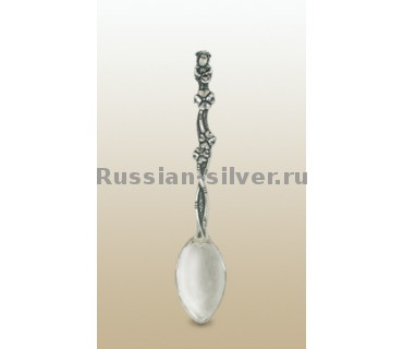 Чайная ложка «Овечка», производство Русское Серебро ВЮЗ, г. Волгореченск, серебро 925 пробы